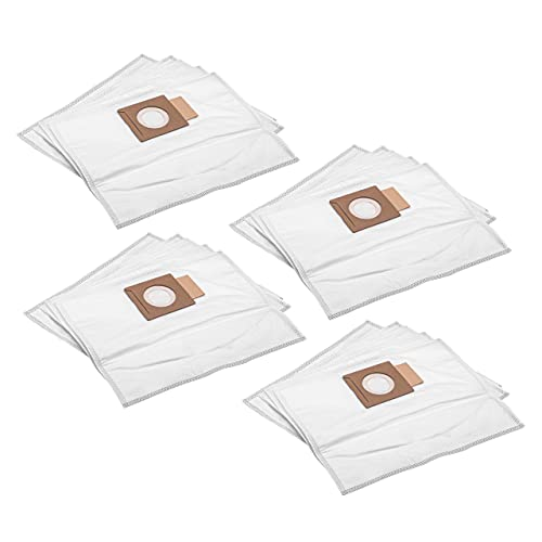 vhbw 20 microfleece Dust Bags compatible with Makita DVC260ZX, DVC260ZX4, DVC260ZX5, DVC260ZX8, DVC261, DVC261ZX11, DVC261ZX15 Vacuum Cleaner, White