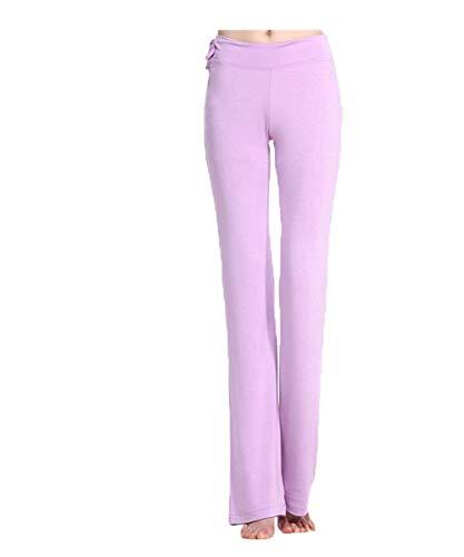 Battercake Damen Lang Leggings Sport Tights Yoga Warm Frauen Casual Hose Gym Fitness Sporthose Elastische Taille Freizeithose Pants (Color : Flieder, Size : L)