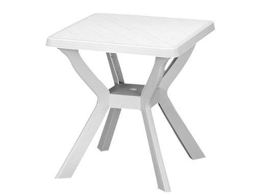 Fun Star Reno Table de bistrot Blanc 70 x 70 cm