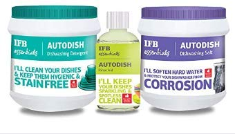 IFB Essentials Acme Ifb Dishwasher DETERGENT + SALT + RINSE AID combo by Lavanya Trade