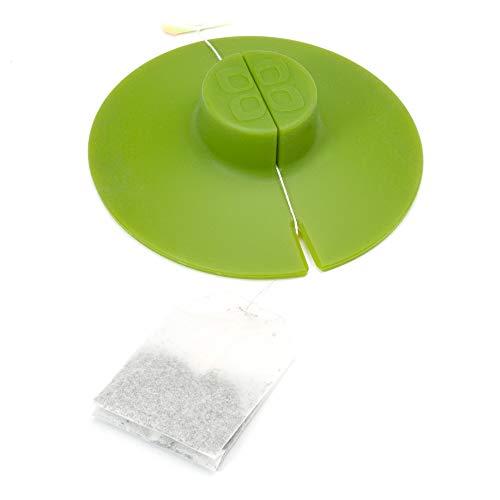 Epoca Kitchen Tool Primula Tea Bag Buddy &ampndash Easy to Use &ampndash Multipurpose &ampndash 100% Silicone &ampndash Green, 4.25-Inch