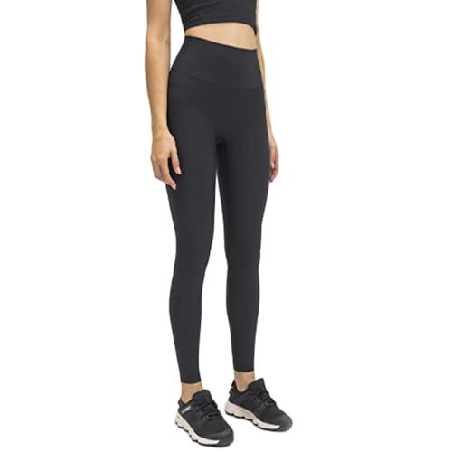 QTJY Pantalones de Yoga para Mujer de Color Puro, Cintura Alta, Mallas de Cadera, Pantalones de Jogging de Fitness elásticos al Aire Libre y de Secado rápido Am