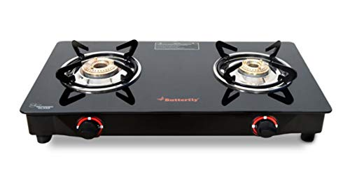 Butterfly Duo 2 Burner Glasstop Gas Stove