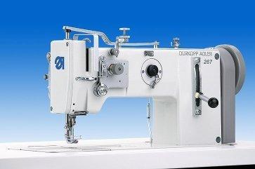 Máquina de coser triple.