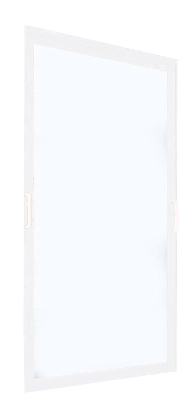 メリー灌漑工業用返品?キャンセル不可品 メーカー受注生産品 FIX窓 ポリカ 樹脂板 簡単すっきり内窓 楽窓 楽窓2 SEIKI セイキ販売 W800mm×H1550mmまでサイズオーダー ポリカ-マットグリーン(3mm) 外ホワイト?内ホワイト
