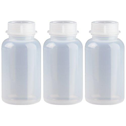 3 x 500ml Weithalsflasche / Laborflasche Naturfarben aus LDPE inkl. Schraubverschluss *** Weithalsflaschen, Laborflaschen, Plastikflasche, Kunststoffflasche, Plastikflaschen, Kunststoffflaschen ***