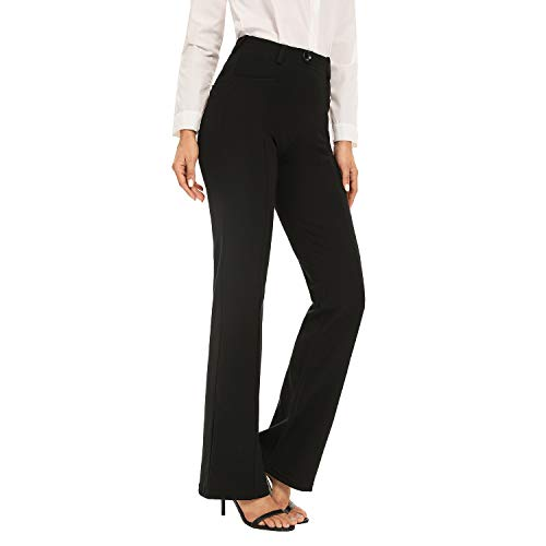 Women High Waist Stretch Dress Pant for Work Casual Office Pull On Pants Long 31' Tailorable Curvy Fit
