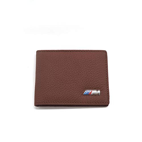 WULIM Leder Auto Führerschein Tasche Auto Fahren ID-Karte Kreditkarte Tasche Brieftasche Geldbörse, für BMW-Stil