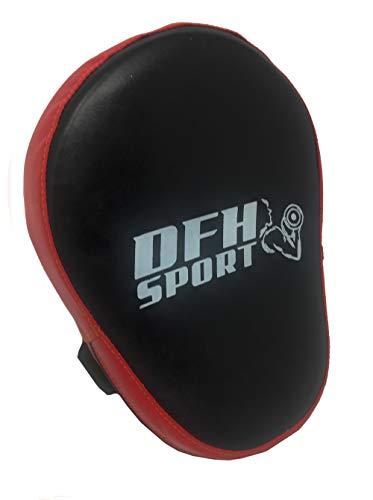 guanti da passata Vetrineinrete® Guanto da passata per Boxe colpitori per Taekwondo Kick Boxing Karate Arti Marziali Allenamento Pugilato (Rosso) M13