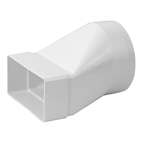 Übergangsstück lang 220 x 55mm / Ø 125mm Flachkanal Rundrohr 220 x 55mm Abluft Kanal Abluftkanal