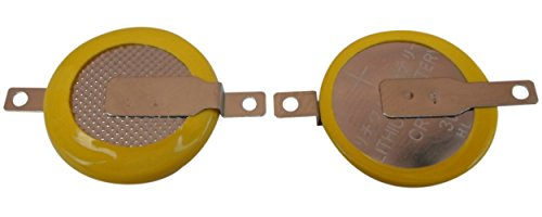 10 X CR1616 3V Batterie Lötfahnen Knopfzelle Tabs Gameboy Color / Advance Spiele