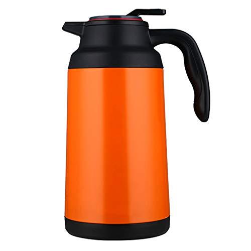 LRXG Pot D'isolation, Bouteille d'eau Chaude Extérieure de Ménage de Grande Capacité en Acier Inoxydable À Long Terme Jus de Café 1.5L O7 (Couleur : Orange)