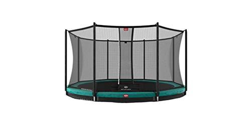BERG Favorit Trampoline InGround 430 cm grün + Safety Net Comfort | Premium Trampolin, Hohe Qualität Kinder Trampolin, Robust und Sicher, Rund