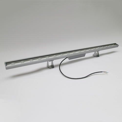 Wallwasher18, bernstein, Fassadenbeleuchtung (IP65, Lichtleiste, Strahler, Design, Wallwasher, Außen, Outdoor, Garten)