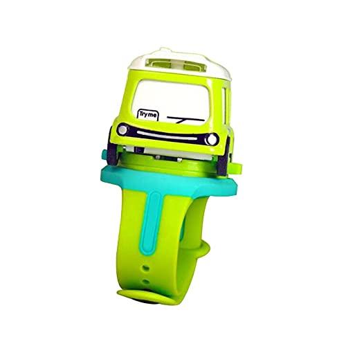 HGJINFANF Los niños Miran el Reloj de la inducción del Modelo de aleación Desmontable de Dibujos Animados de los niños. (Color : Green)