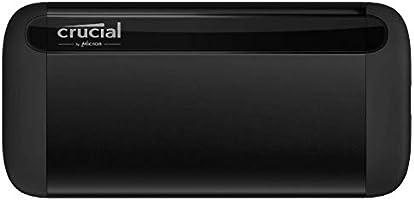 Crucial CT2000X8SSD9 X8 2TB Portable SSD, Fino a 1050MB/s, USB 3.2, Unità a Stato Solido Esterno, USB-C, USB-A