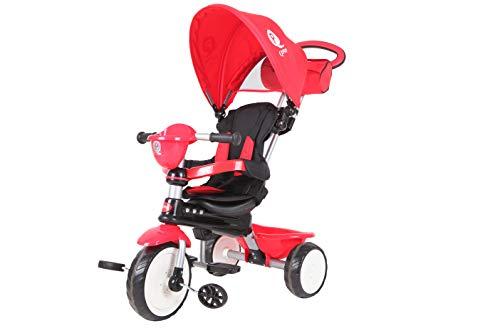 Qplay - Confort Triciclo evolutivo 3 en 1, Color Rojo, Qp300.05