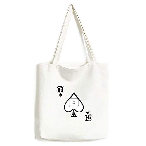Keyboard Symbol X Handtasche Craft Poker Spaten waschbare Tasche