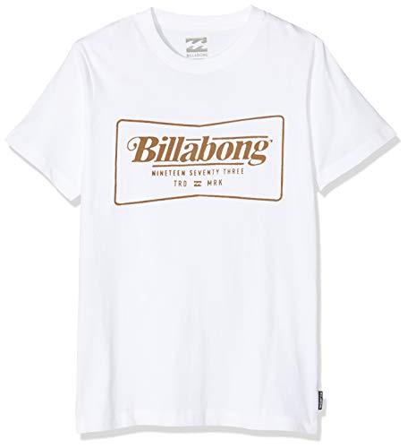 BILLABONG TRD Mrk SS tee Boy Camiseta, Blanco (White 10), One Size (Tamaño del Fabricante: 16) para Niños