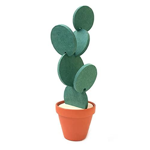 Eaarliyam Cactus Cactus en Forma de Copa Cerveza DIY Posavasos Posavasos Redonda decoración de la Tabla del Aislamiento de Calor Antideslizante Creativo Pad para Home Office decoración de la Barra