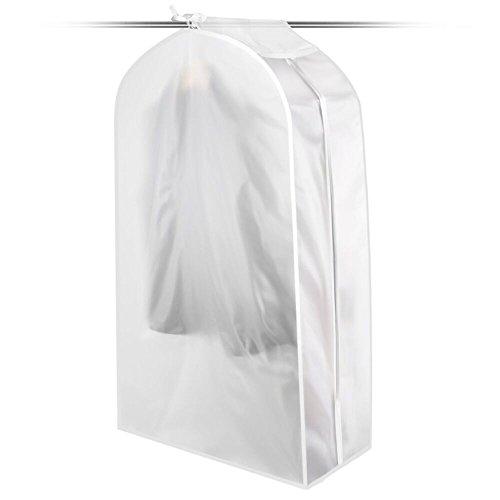 KONKY Housses de Vêtements Transparent Etanche Anti-Poussière Protection Vêtements Couvre Housse Protège Portant Universelle Garment Covers pour Chemise Costumes Manteaux Clothes 30x120x60CM