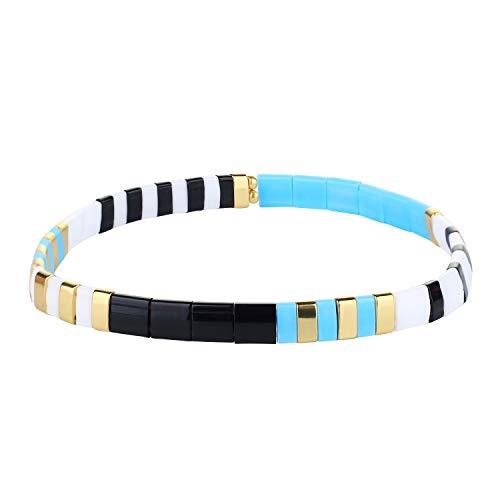 KANYEE Bracelets élastique Bracelets D'amitié Fait Main Bracelets Perlés Tila Bracelets Breloques De Mode pour Femme – 9F