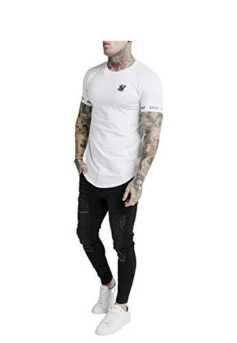 Sik Silk SS-17042 Raglan Tech T-Shirt - White Large White