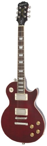 Epiphone Les Paul Tribute Plus Outfit - Guitarra eléctrica, color black cherry