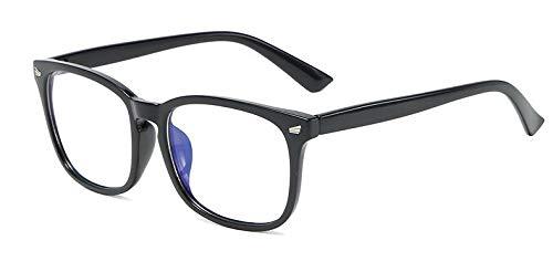 Lovemorebuy Gafas de bloqueo de luz azul para antidolor de cabeza y tensión de ojos, superligeras, gafas de videojuegos, accesorios de moda, unisex para mujeres y hombres (negro)