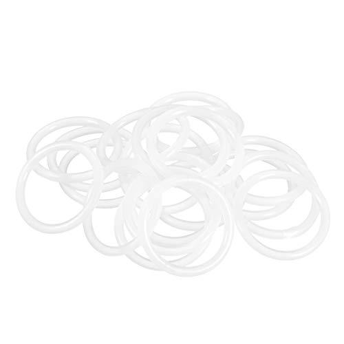 sourcing map 20 Stk.Silikon O Ringe 24mm Innendurchmesser 30mm Außendurchmesser 3mm Breite