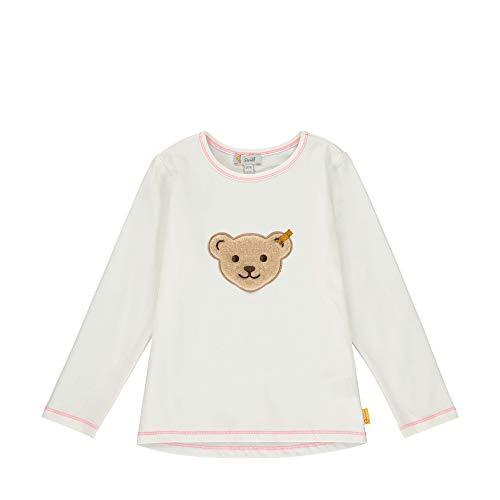 Steiff Baby-Mädchen T-Shirt Langarm Langarmshirt, Beige (Cloud Dancer 1001), 86 (Herstellergröße: 086)