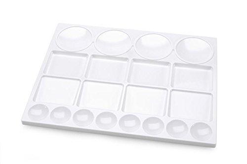 Darice White Plastic 10 Oblong Palette