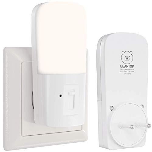 Premium Nachtlicht von BEARTOP | mit Dämmerungssensor | warmweiß | auto ON/OFF | dimmbar | Orientierungslicht, Schlummerlicht Schlafzimmer | energieeffiziente LED | ZUFRIEDENHEITSGARANTIE (3 Jahre)*