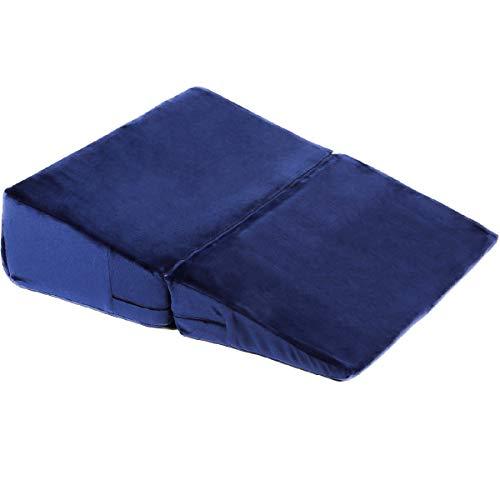 cocochi 三角クッション 三角枕 なだらか体圧分散三角マット 分けられる三角枕 幅50cm ネイビー
