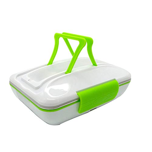 ZSLLO Portable électrique Chauffage Lunchbox fabriqué par Acier Inoxydable de Haute qualité et Plastique Chauffe-Aliments pour Voiture Vaisselle12V (Couleur : Vert)