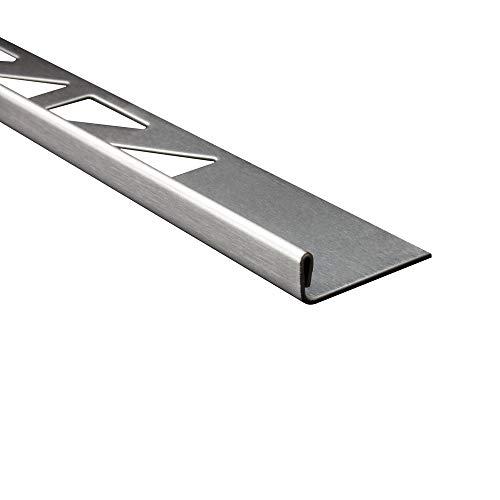 L-Profil Edelstahlschiene Fliesenprofil Fliesenschiene Edelstahl V2A L250cm 6mm gebürstet