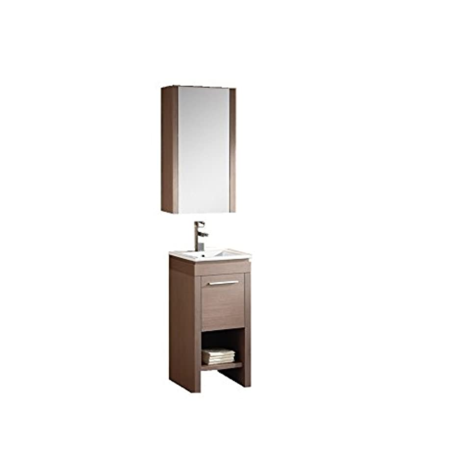 Fine Fixtures MO16GO-VEMO17W-MOMC16GO Modern Modena Vanity with Medicine Cabinet, 16