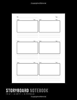 Storyboard Notebook: 16:9 8.5x11 6 Panel Notebook for Animators, Directors, Filmmakers, Storyboard Artist, Previs Artist, Cinematographer