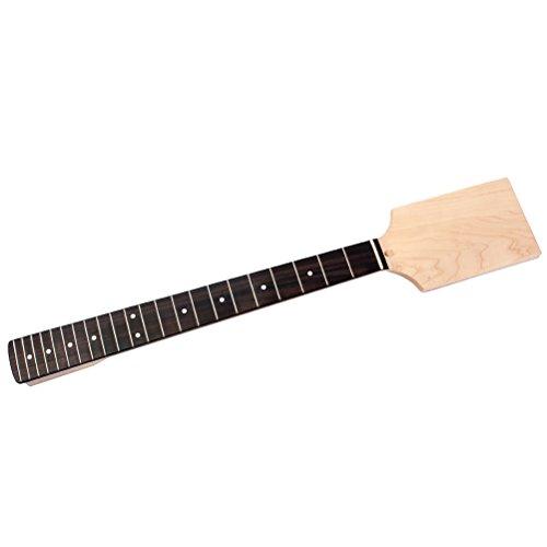 ULTNICE Gitarre Hals Ahorn DIY Ersatz 22 Bünde Palisander Griffbrett Paddle Headstock für E-Gitarre
