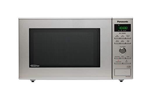 Panasonic NN-SD27HSUPG - Horno microondas Solo, 23 L, tecnología inverter, microondas 1000 W, plato giratorio 285 cm, interior acrílico, descongelación turbo, gris, versión francesa