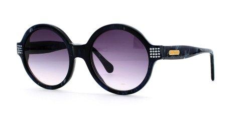 Cerruti 2917 BLT Sonnenbrille für Damen und Herren, rund, zertifiziert, Vintage-Stil, Blau
