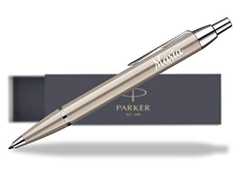 Parker Geschenkfreude IM Kugelschreiber mit Gravur Geschenk hochwertig/bestandene Prüfung Geschenk/personalisierte Geschenke/blauschreibend