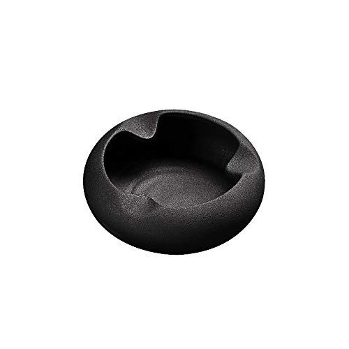 Asbak Zwart Keramisch Glazen Asbak, Asbak Voor Geschenk/Woonkamer/Koffie Tafel/Persoonlijke Homepage/sigaren/kantoor Zwart-14,5x4,6CM