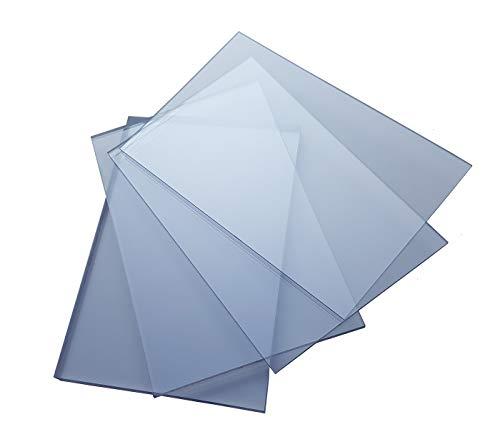 Acrylglas-Platte, Plexiglas Zuschnitte | Platte | VIELE Verschiedene Formate UND STÄRKEN | 2-10mm | TRANSPARENT u. Opal, Messe- & Ladenbau | TOP QUALITÄT (2 Stück DIN A4 (29,7x21), 5mm UV-Schutz)
