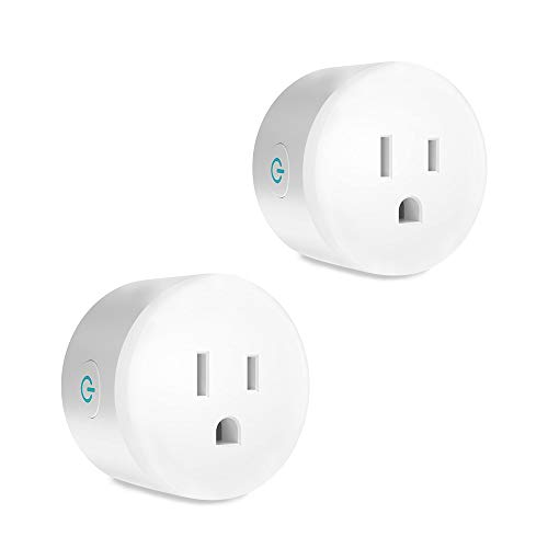 Zigbee smart outlet plug HC-SMART smart home devices Compatible with Alexa, SmartThings Hub, Hue, Echo (4th gen) Echo Plus (2nd) Google Home,alexa devices for home,need zigbee hub (2 pack)