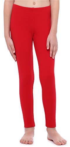Merry Style Leggings Mallas Largas Niña MS10-252 (Rojo, 140 cm)