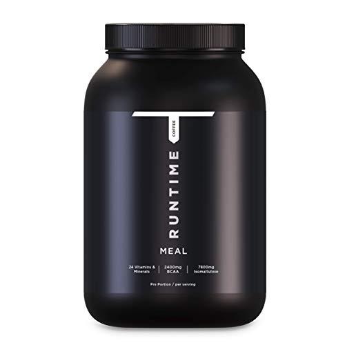 Runtime Meal - 15 Mahlzeiten | vollwertiger Mahlzeitersatz für langanhaltende Sättigung, Energie, Konzentration und Leistungsfähigkeit, mit Vitaminen und Nährstoffen (Coffee)