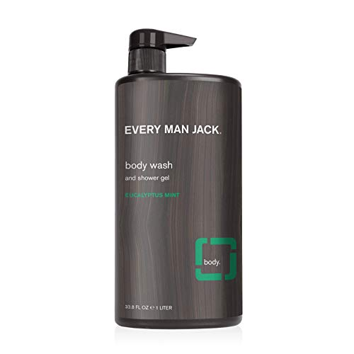 Every Man Jack Men's Body Wash - Eucalyptus Mint | 33.8-ounce - 1 Bottle | Naturally Derived, Parabens-free, Pthalate-free, Dye-free, and Certified Cruelty Free