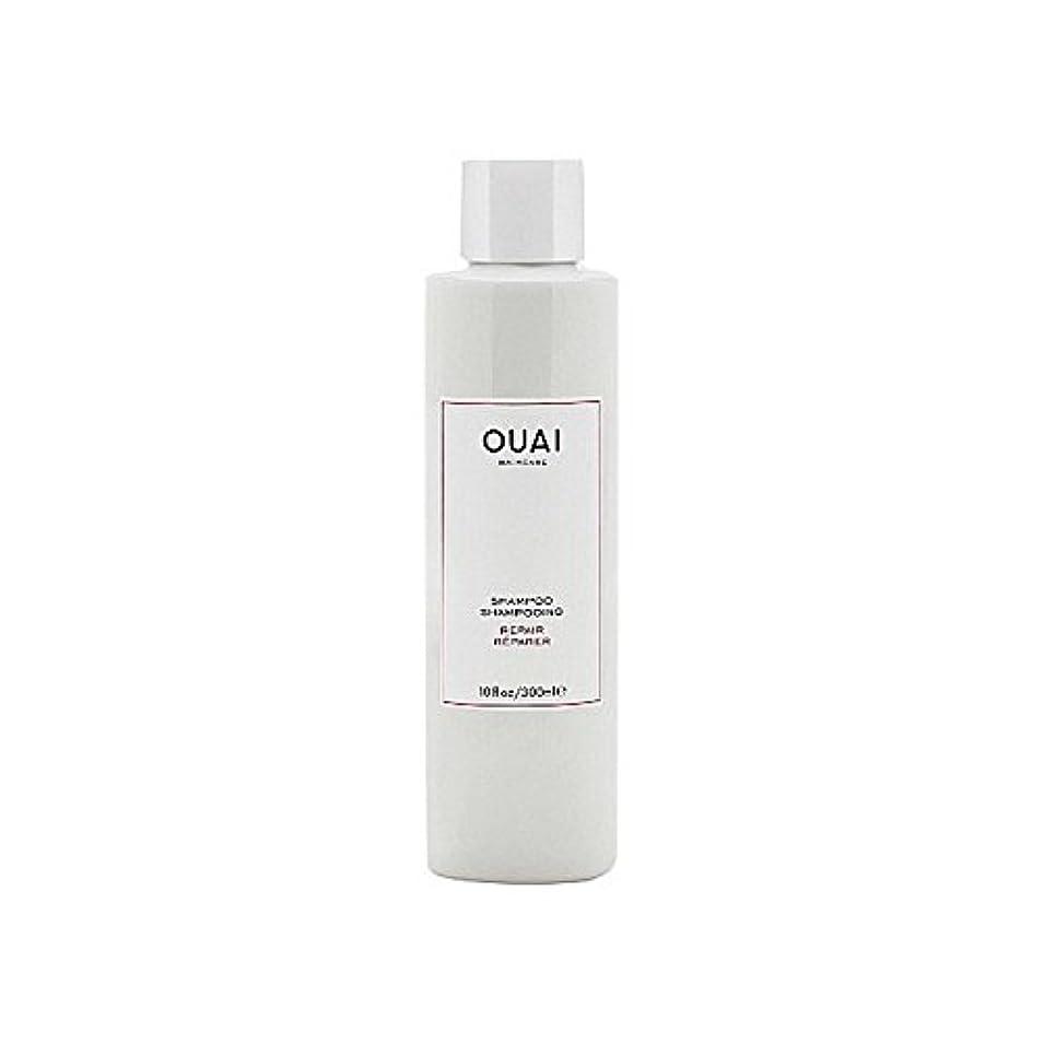 塊起きろ添加剤リペアシャンプー300ミリリットル x2 - Ouai Repair Shampoo 300ml (Pack of 2) [並行輸入品]