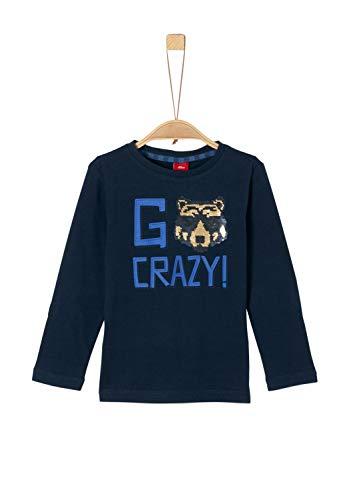 s.Oliver Jungen 63.909.31.8977 T-Shirt, Blau (Dark Blue 5952), 128 (Herstellergröße: 128/134/REG)